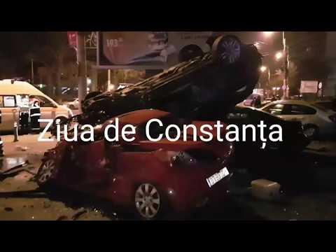 Accident rutier grav, în Constanța, în zona Gării CFR. Mașini claie peste grămadă. Cum nu s-a mai vă