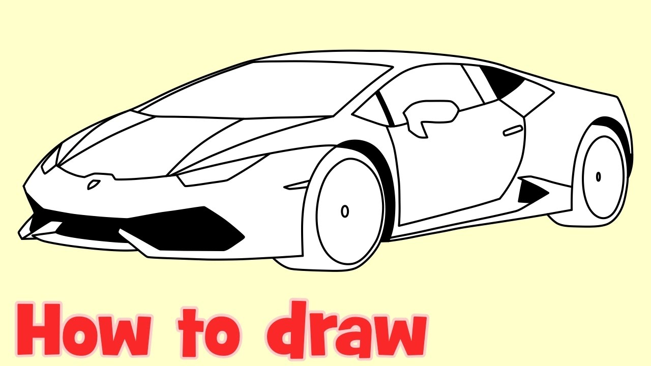 How To Draw A Car Lamborghini Huracan Youtube