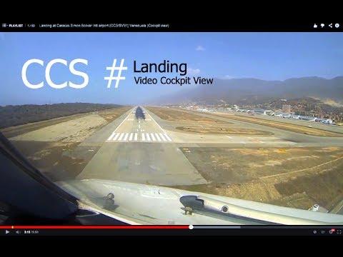 Landing at Caracas Simon Bolivar Intl airport (CCS/SVMI) Venezuela (Cockpit view)