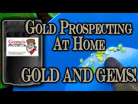 Gold Prospecting @ Home: Lynch Mining - Gizmo's Gold + Gem Paydirt