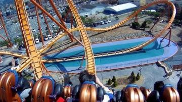 경주월드 어뮤즈먼트 드라켄 뒷자리 탑승영상-Draken back seat on-ride Gyeongju World Amusement Park