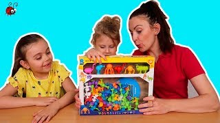 Constructor cu Lipitori   Deschidem un nou Constructor Neobisnuit   Video pentru Copii