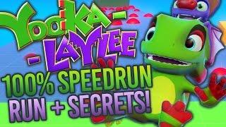 Yooka-Laylee Toybox 100% Speedrun + Secret Rooms!