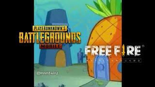 Meme Free Fire Vs Pubg Spongebob Youtube Go