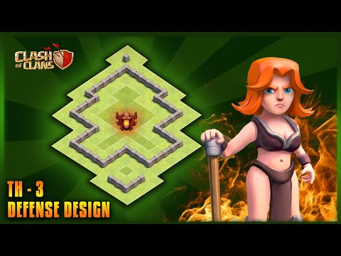 TOWN HALL LEVEL - 3 {TH-3} BEST FARMING BASE।CLASH OF CLANS
