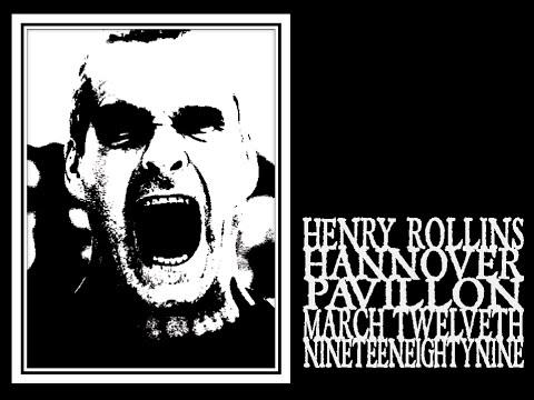 Henry Rollins - Hannover 1989