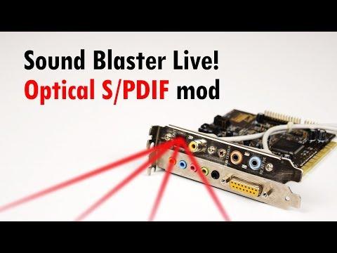 Sound Blaster Live! Optical Coax S/PDIF Mod