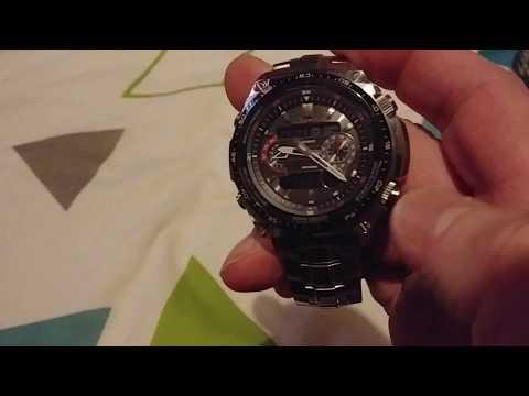 Casio Men's Edifice Waveceptor Alarm Chronograph Radio Controlled Solar Powered Watch Unboxing