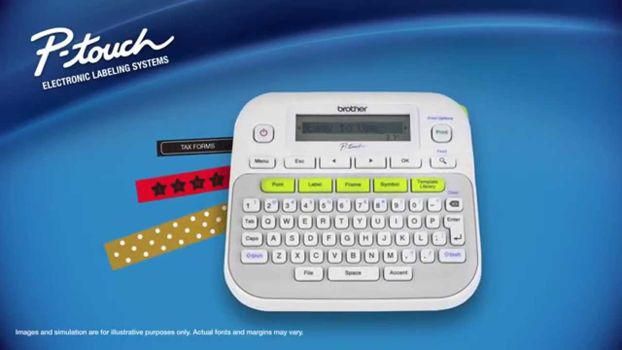 Easy To Use Label Maker Brother Pt D210 Youtube