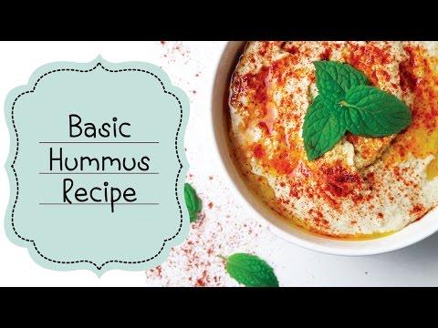 Hummus Recipe (Basic Hummus Recipe) حمص بالطحينة