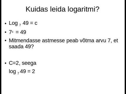 Logaritm