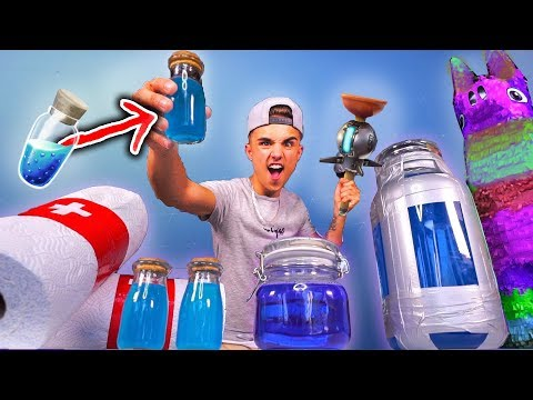 FORTNITE ITEMS IN REAL LIFE CHALLENGE! (DIY FORTNITE ITEMS IN REAL LIFE)