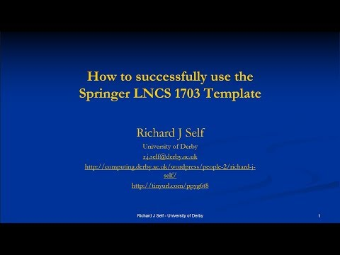 Using The Springer LNCS 1703 Template