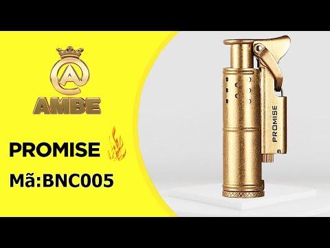 Bật lửa xăng đá cối cổ Promise BNC 005 – AMBE.VN