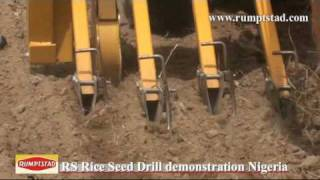 Rice Seed Drill demonstration in Nigeria