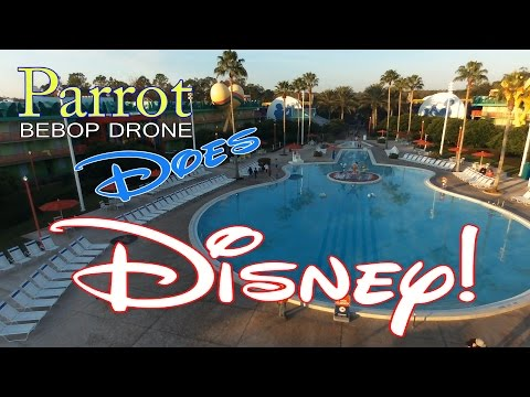 PARROT BEBOP DRONE Does DISNEY!! AllStar Music Resort Pool Edition!