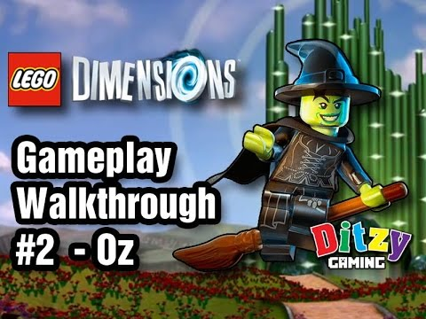 LEGO Dimensions Walkthrough 2 | Oz: Wicked Witch of the West | Gameplay PS4/XB1/WiiU HD