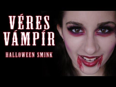 Halloween Sminkek.Halloween Smink Veres Vampir