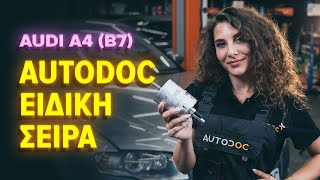 Πώς αλλαζω Φιλτρο πετρελαιου AUDI A4 (8EC, B7) - δωρεάν διαδικτυακό βίντεο