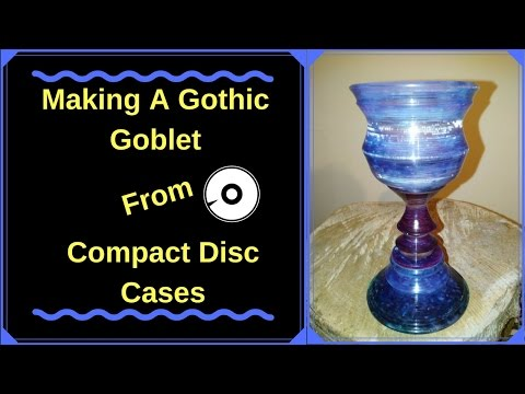 Woodturning Making a Gothic Goblet from Compact Disc Cases !!