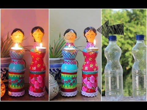 Dolls diya using Plastic Bottles for Diwali Decorations / DIY Home Decor