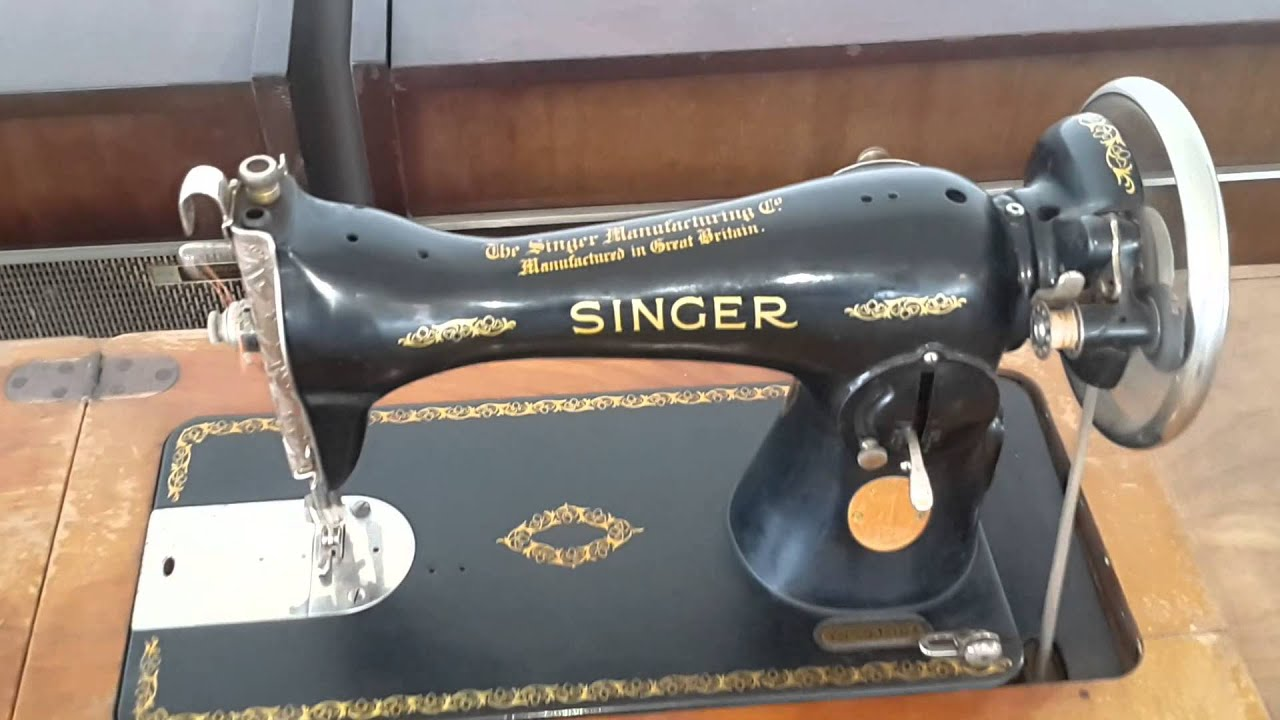 Maquina De Coser Singer Antigua Funcionando Great Britain