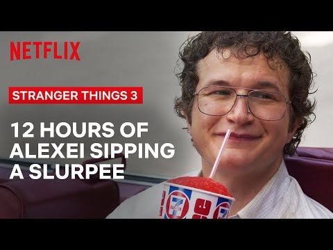 12 Hours of Dr. Alexei Slurping a Slurpee | Stranger Things | Netflix