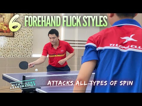 6 types of Forehand Flicks that attack every opponent's Spin | Tips and Tactics