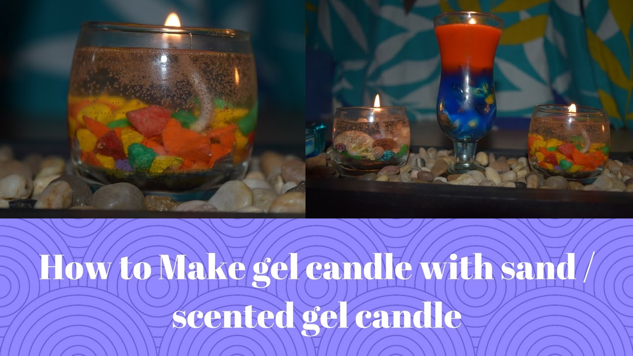 How to make gel candle with sand scented gel candle for How to scent candles