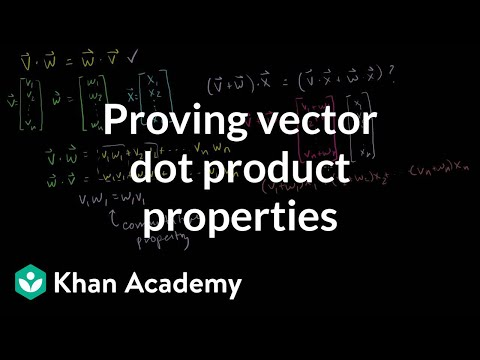 Proving vector dot product properties | Vectors and spaces | Linear Algebra | Khan Academy