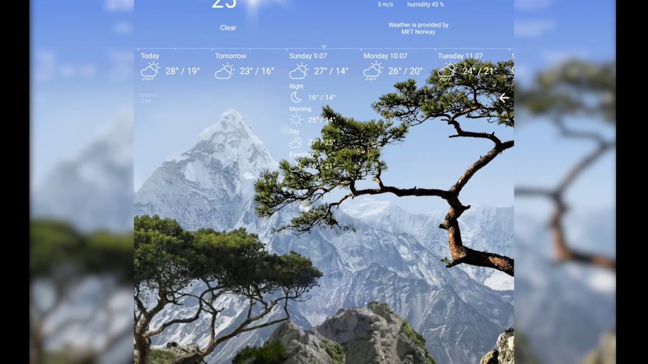 True Realistic weather nature live wallpaper 3D HD - YouTube