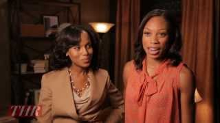 Olympic Gold Medalist Allyson Felix Visits the Set of 'Scandal'