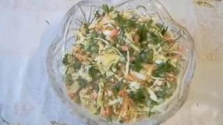 Салат из свежей капусты. Закусочный салат