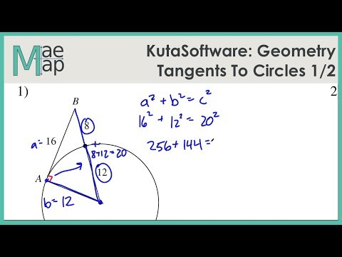 KutaSoftware: Geometry- Tangents To Circles Part 1 - YouTube