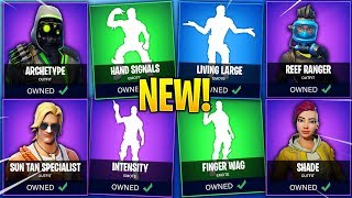 *NEW* LEAKED FORTNITE SEASON 5 EMOTES & SKINS..!! (v5.1 Update)