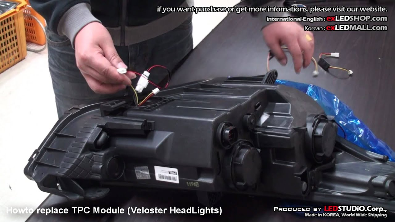 Howto Replace Tpc Module Veloster Headlights Youtube