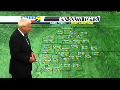 WMC-TV 5 Memphis, Tennessee October 2011 Weather Cast With L