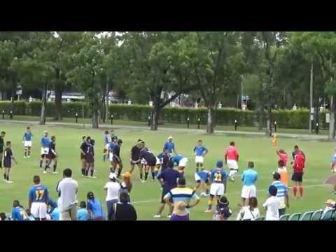 Rugby U15 ระหว่าง ภปร ราชวิทยาลัย กับ วชิราวุธ วิทยาลัย 08/08/2015 First Half