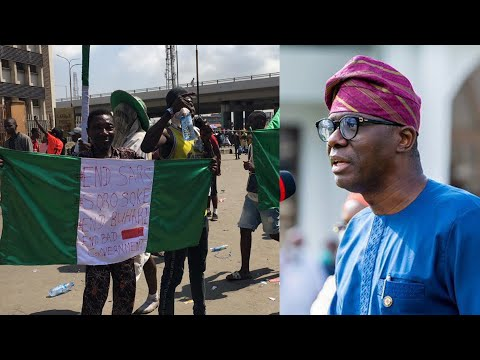 LAGOS PROTESTERS REPLIED TO LAGOS STATE GOVERNMENT:WE ARE NOT GOING ANYWHERE FOR CURFEW.
