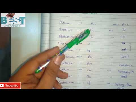 Trick to learn actinide series