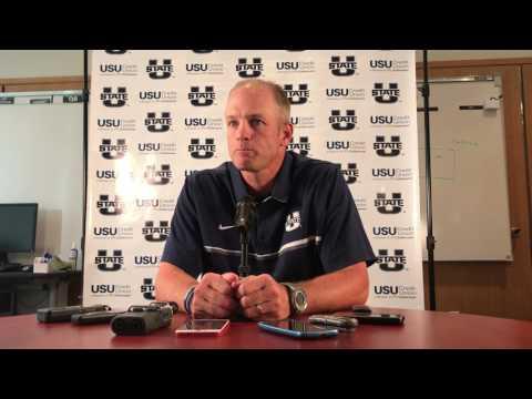 Matt Wells at USU Football Media Day 2017