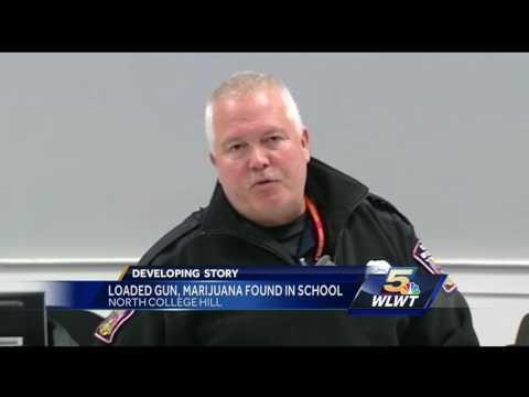 Loaded gun, pot found in North College Hill High School locker