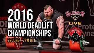 FULL SHOW | World Deadlift Championships 2016 - FULL & UNCUT