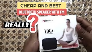 Cheap and Best Bluetooth Speaker With Calling and Aux Support Live Tech Yoga Bluetooth Speaker