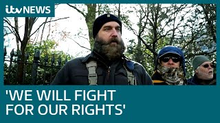 Thousands of US gun rights activists take part in peaceful rally against new laws | ITV News