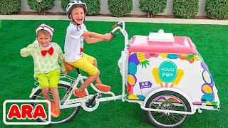 ركوب فلاد ونيكي على متن طائرة لعبة واللعب بالألعاب