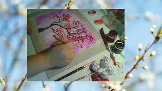 Рисуем дома. Техника рисования алюминием.