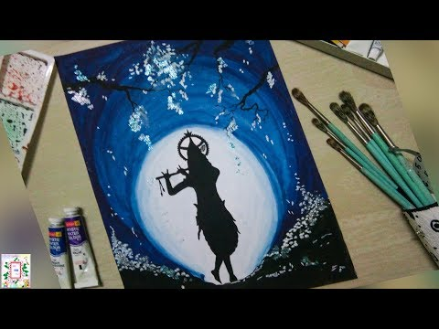 How to Draw Lord Krishna Step by Step-Poster Colour Painting  |  Art For Fun