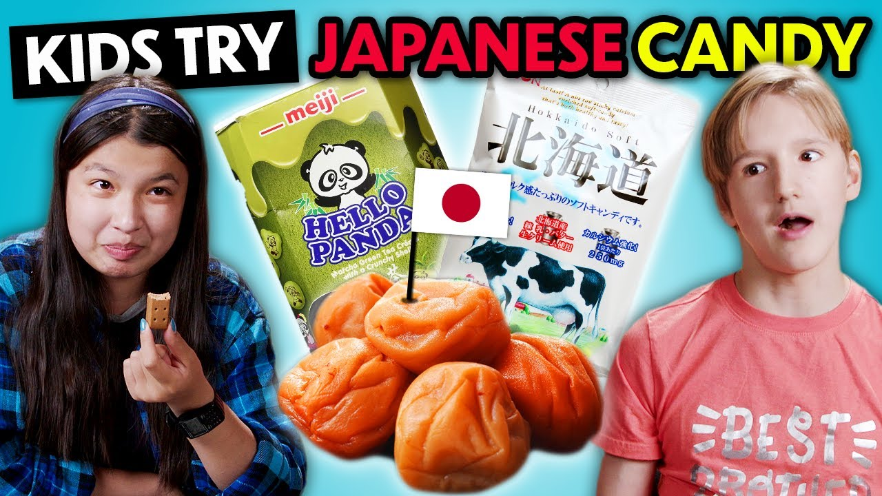 Kids Try Japanese Candy For The First Time | Kids Vs. Food