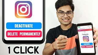 How to Delete Instagram Account Permanently & Temporarily Deactivate in Hindi